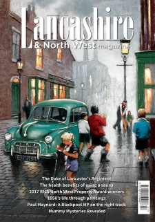 E ANTHONY ORME ART ON FRONT COVER of Lancashire & Northwest magazine