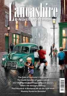 E ANTHONY ORME ART ON FRONT COVER of Lancashire & Northwest magazine