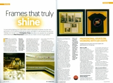 Framing with LED lights - article by E. Anthony Orme Gallery