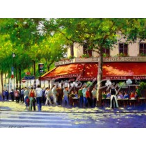 At the Cafe de Cluny, Paris