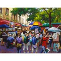 Busy Day, Montmartre, Paris