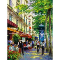 Lunch on a shaded Boulevard, Paris