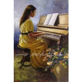 Martina at the Piano