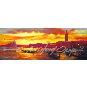 Sunset on Grand Canal, Venice