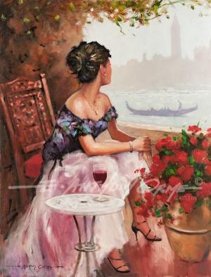 The Girl On The Balcony - Venice